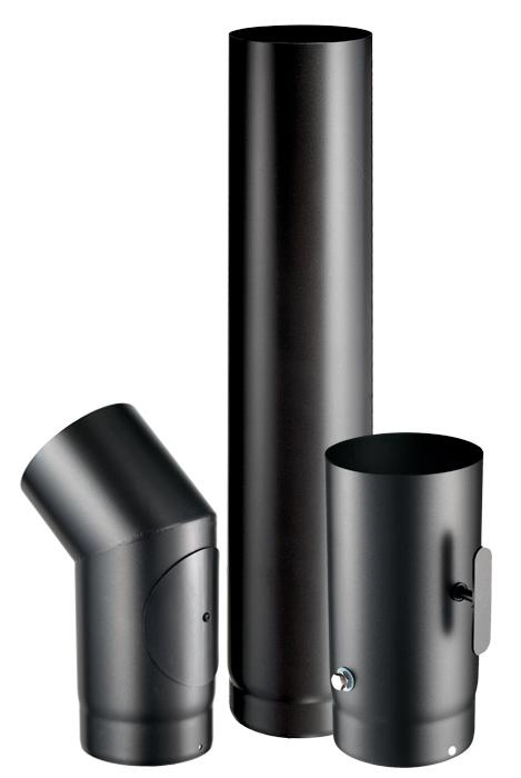 MATT BLACK PAINTED STEEL PIPE 400ºC: BOFILL FIREWOOD LINE